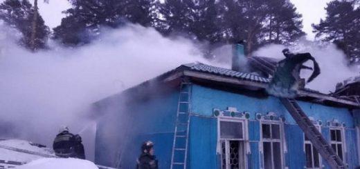 В Новосибирске во время пожара погибла пенсионерка