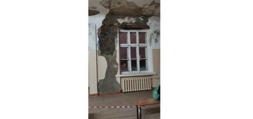 Потолок может рухнуть на учеников школы №109 в Новосибирске