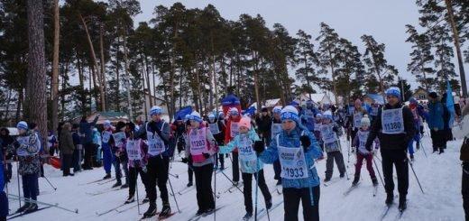 Лыжники создали пробку в лесу под Бердском на «Лыжне России-2020»
