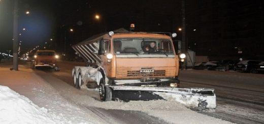 Какие улицы очистят от снега в ночь на 19 февраля в Новосибирске