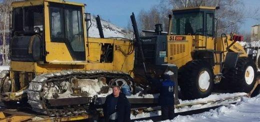 «Снежный десант» и тракторы прибыли на подмогу Змеиногорску