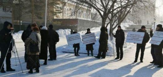 Новосибирцы вышли на пикет против «судебных ошибок» в делах о насилии