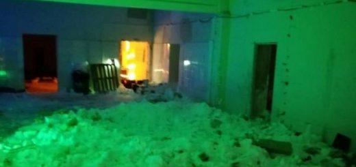 Крыша кафе обрушилась в Новосибирске: есть жертвы